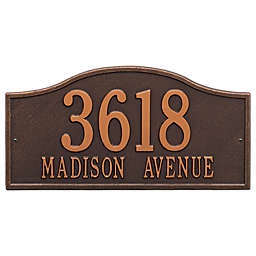 Whitehall Products Rolling Hills Grand Wall Address Plaque in Antique Copper