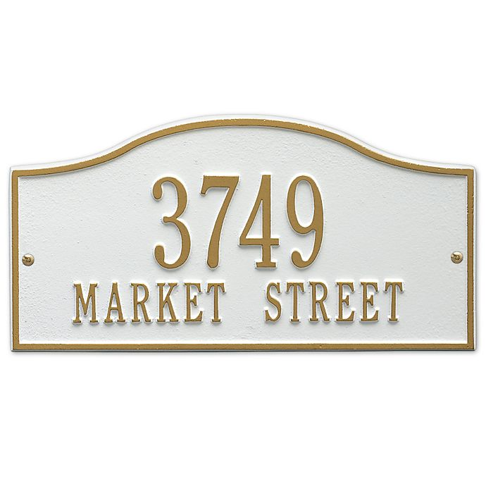 Alternate image 1 for Whitehall Products Rolling Hills Standard Wall Address Plaque