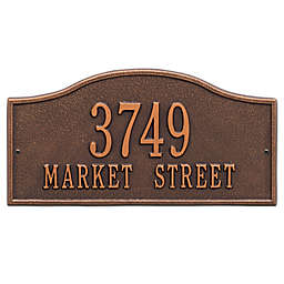 Whitehall Products Rolling Hills Standard Wall Address Plaque in Antique Copper