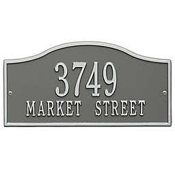 Whitehall Products Rolling Hills Standard Wall Address Plaque in Pewter/Silver