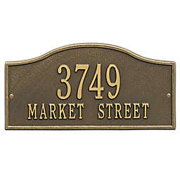 Whitehall Products Rolling Hills Standard Wall Address Plaque in Antique Brass