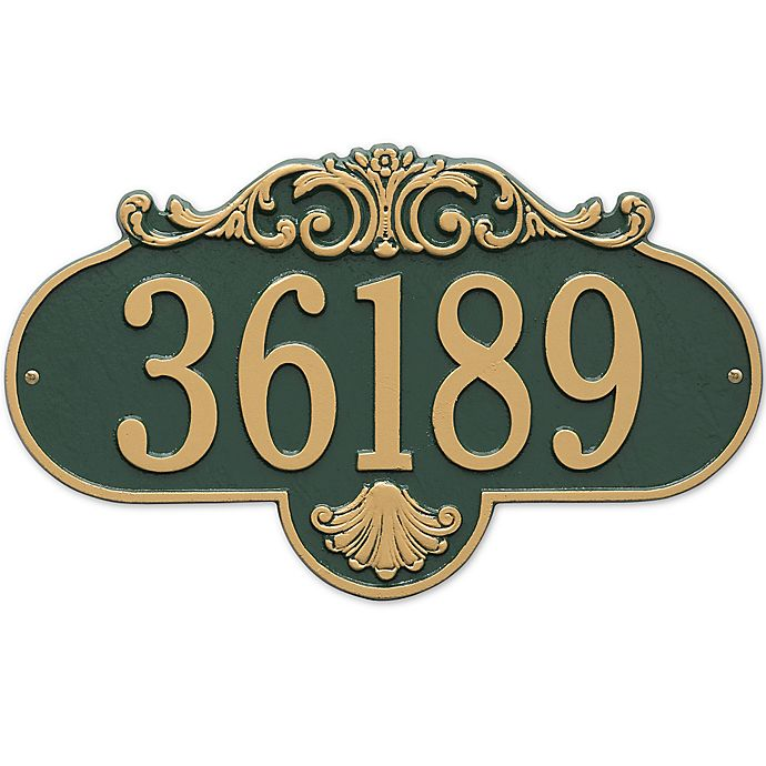 Alternate image 1 for Rochelle 1-Line Grande Wall Plaque in Green/Gold