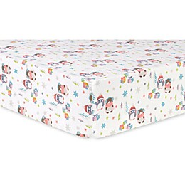 Trend Lab® Winter Wishes Deluxe Flannel Fitted Crib Sheet