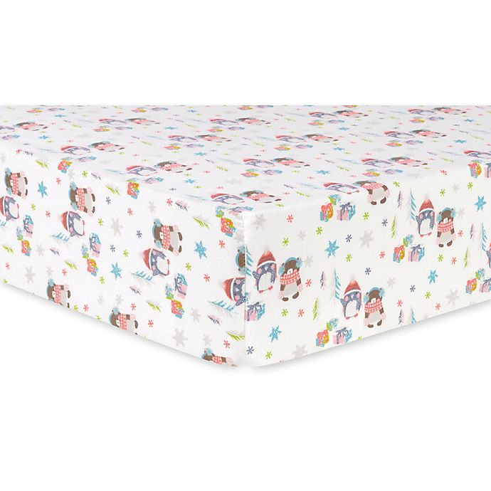 Trend Lab 174 Winter Wishes Deluxe Flannel Fitted Crib Sheet