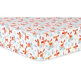 Trend Lab® Winter Moose Deluxe Flannel Fitted Crib Sheet