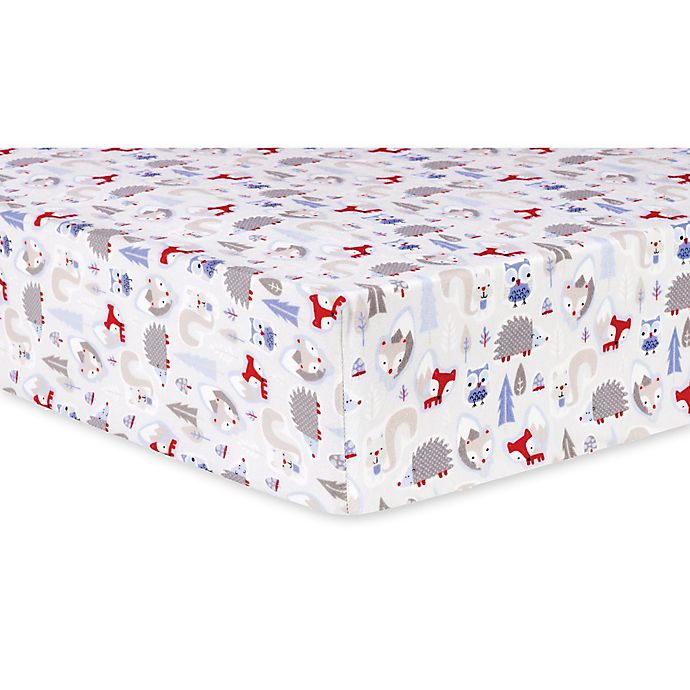 Trend Lab 174 Winter Frost Deluxe Flannel Fitted Crib Sheet