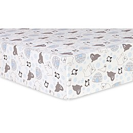 Trend Lab® Igloo Friends Deluxe Flannel Fitted Crib Sheet