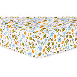 Trend Lab® Animal Tepee Deluxe Flannel Fitted Crib Sheet