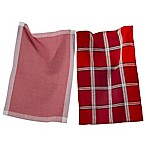 tag® Woven Kitchen Towels in Red (Set of 2)