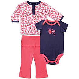 BabyVision® Yoga Sprout 3-Piece Paisley Long Sleeve Top, Bodysuit, and Pant Set