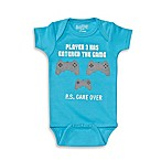 Sara Kety® Size 6-12M  Player 3  Short Sleeve Bodysuit in Turquoise