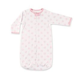 BabyVisionż Hudson Baby Size 0-3M Scroll Print Long Sleeve Cotton Sleeping Bag in White/Pink