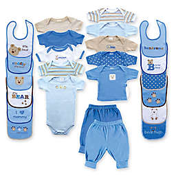 BabyVision® Luvable Friends Size 0-3M Deluxe 24-Piece Gift Cube Layette Set in Blue
