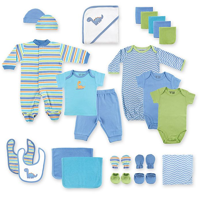 Alternate image 1 for Baby Vision® Luvable Friends® 24-Piece Deluxe Gift Cube in Blue