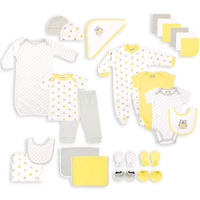Alternate image 1 for BabyVision® Luvable Friends® Size 0-6M 24-Piece Owl Deluxe Gift Cube in Grey