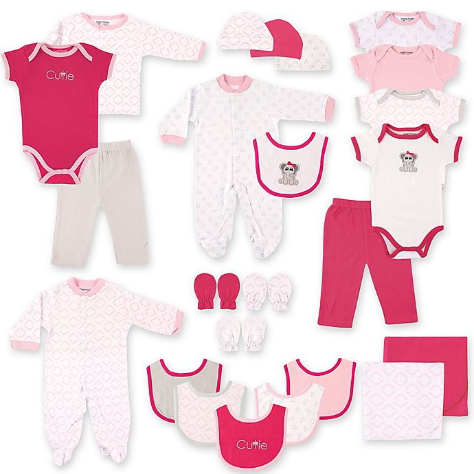 Alternate image 1 for Baby Vision® Luvable Friends® 24-Piece Deluxe Pink Elephant Gift Cube