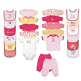 Baby Vision® Luvable Friends® Size 0-3M 24-Piece Coordinating Outfits Gift Cube in Pink