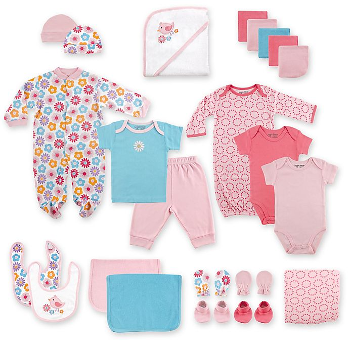 Alternate image 1 for Baby Vision® Luvable Friends® 24-Piece Deluxe Gift Cube in Pink