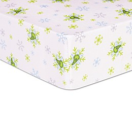 Trend Lab ® Dr. Seuss™ The Grinch Deluxe Flannel Crib Sheet