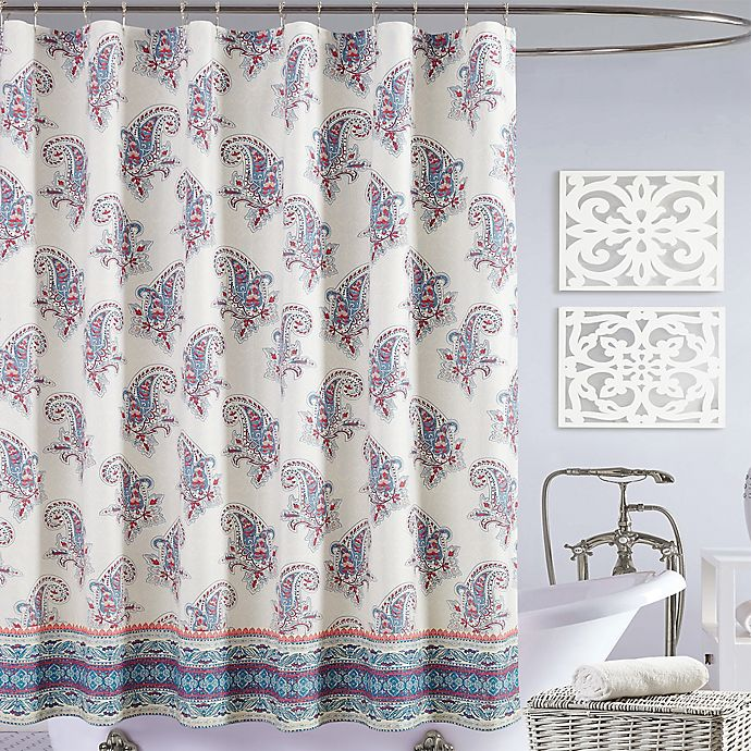 Alternate image 1 for Jessica Simpson Gemma Shower Curtain in Blue