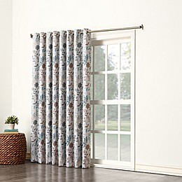 Sun Zero® Allena Grommet Top Extra Wide Patio Door Curtain Panel in Stone