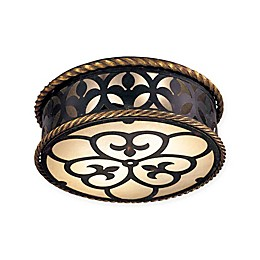 Metropolitan Montparnasse™ 2-Light Flush-Mount Ceiling Fixture in French Black™