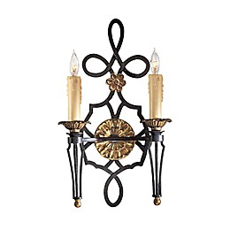 Metropolitan Montparnasse™ 2-Light Wall Sconce in French Black™
