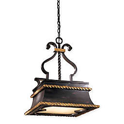 Metropolitan Montparnasse™ 3-Light Pendant in French Black™ with Glass Shade