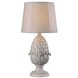 Kenroy Home Artichoke 1-Light Table Lamp in White