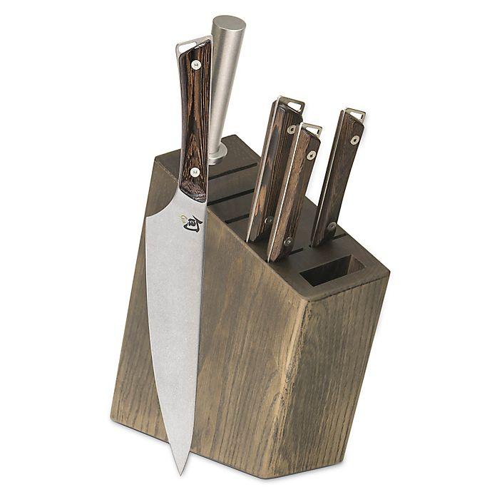 Alternate image 1 for Shun Kanso 6-Piece Knife Block Set