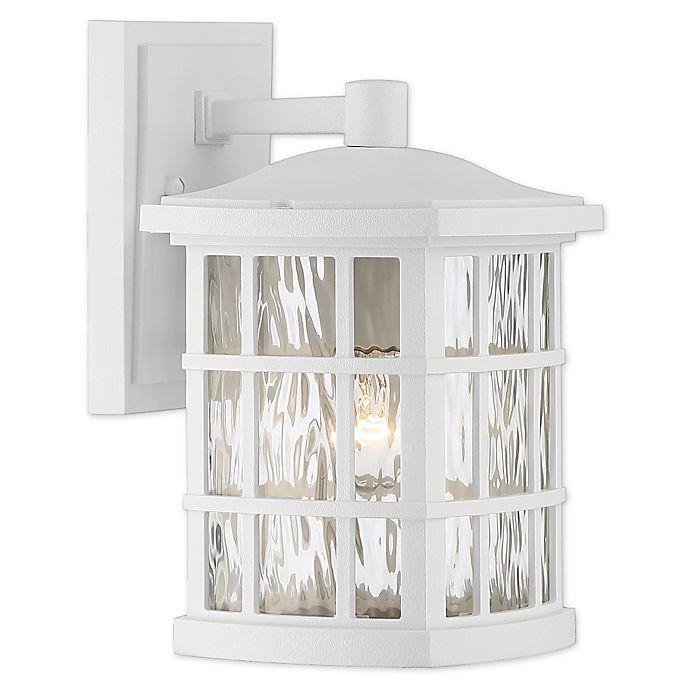 Alternate image 1 for Quoizel® Stonington 10.5-Inch Wall-Mount Outdoor Lantern in Fresco