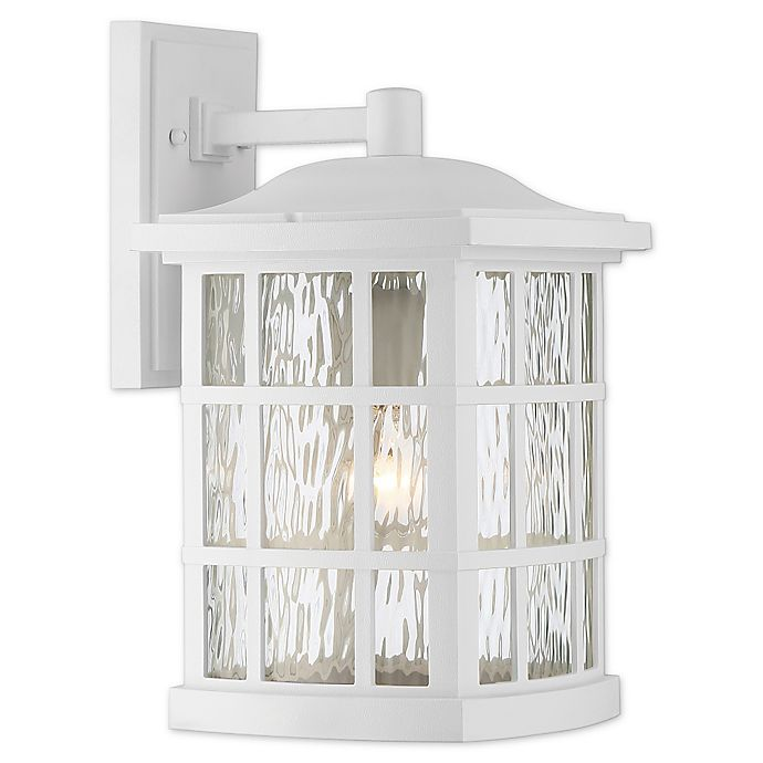 Alternate image 1 for Quoizel® Stonington 15.5-Inch Wall-Mount Outdoor Lantern in Fresco