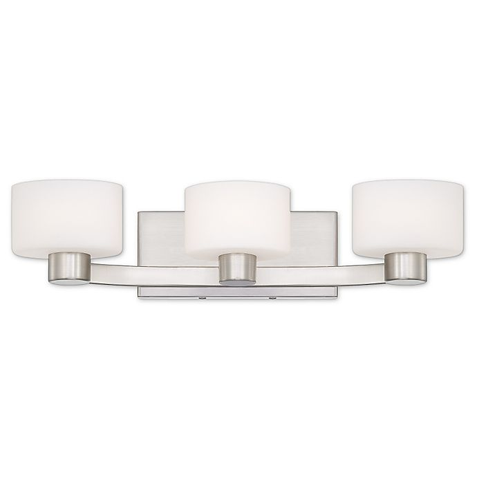Moving Bathroom Vanity Light: Quoizel Tatum 3-Light Bathroom Vanity Light In Brushed