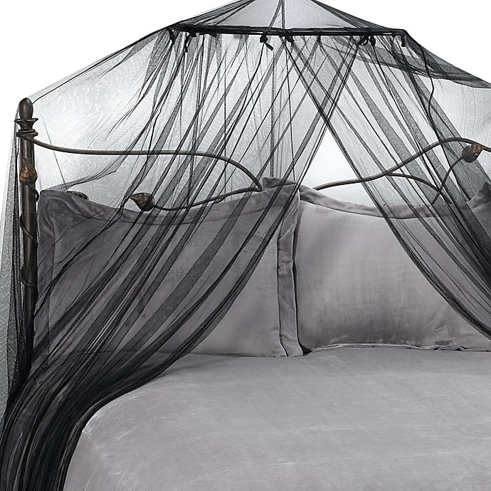 Alternate image 1 for Siam Bed Canopy and Mosquito Net in Black