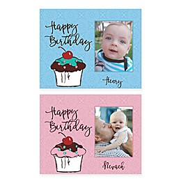 "Pied Piper Creative ""Happy Birthday"" Cupcake Canvas Wall Art"