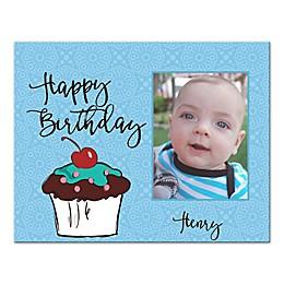 "Pied Piper Creative ""Happy Birthday"" Cupcake Canvas Wall Art"