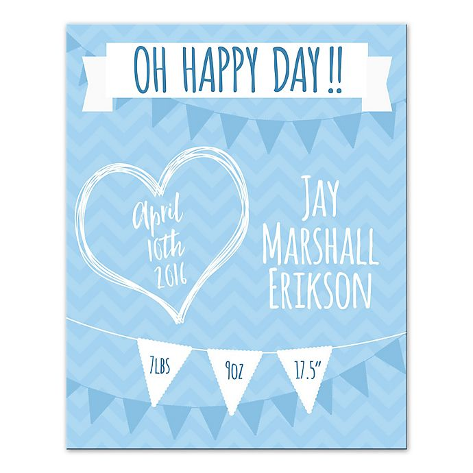 Alternate image 1 for Pied Piper Creative Happy Day Canvas Wall Art in Blue