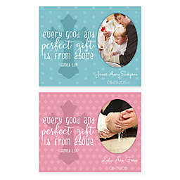 """14-Inch x 11-Inch Children's """"Every Good Gift"""" Cross Religious Canvas Wall Art"""
