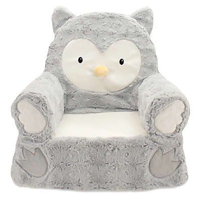 Sweet Seats® Plush Owl Chair in Grey