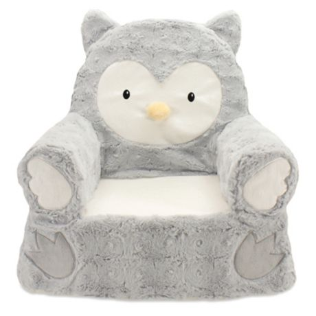 Groovy Animal Adventure Sweet Seats Owl Character Chair In Grey Beatyapartments Chair Design Images Beatyapartmentscom