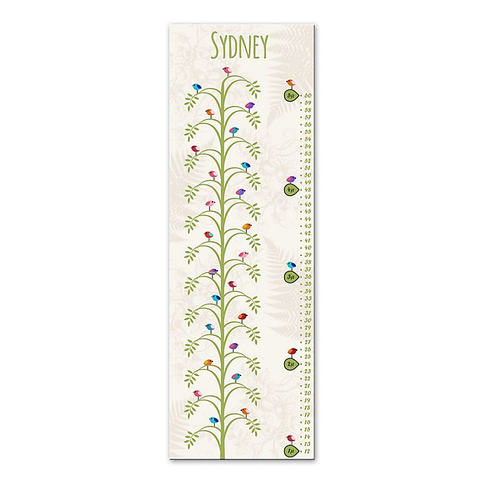 Alternate image 1 for Tree Canvas Growth Chart in White