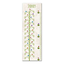 Tree Canvas Growth Chart in White