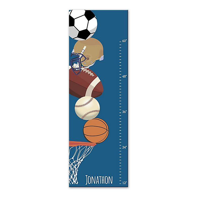 Alternate image 1 for Sports Growth Chart Canvas Wall Art in Blue