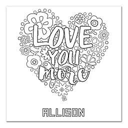 Heart Custom Coloring Canvas Wall Art