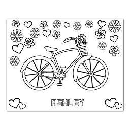 Bicycle Custom Coloring Canvas Wall Art