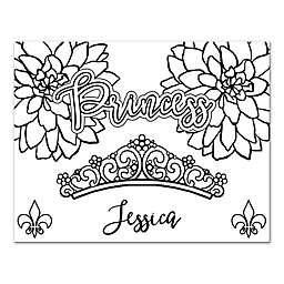 """Princess"" Custom Coloring Canvas Wall Art"