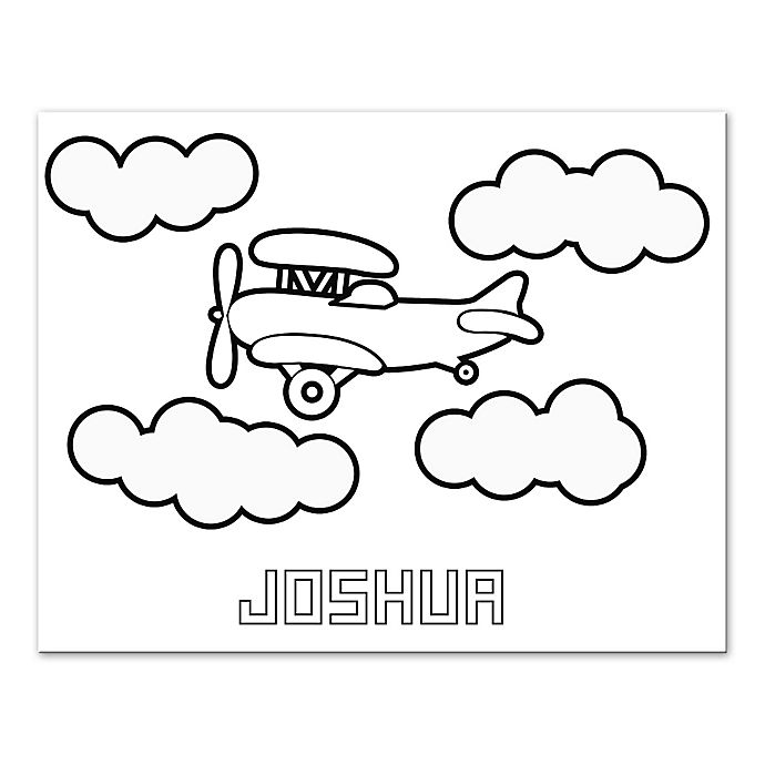 Alternate image 1 for Plane Custom Coloring Canvas Wall Art