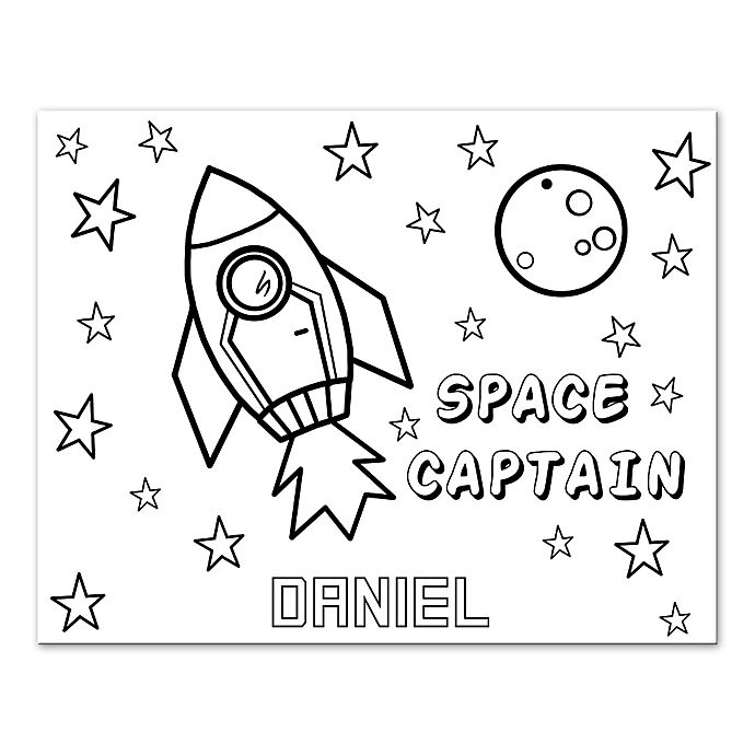 > Personalized Room Decor > Rocket Space Custom Coloring
