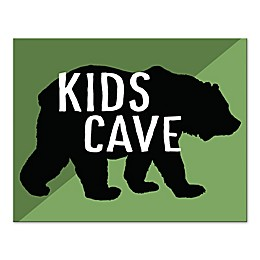 "Designs Direct ""Kids Cave"" Bear Canvas Wall Art"