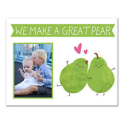 """14-Inch x 11-Inch Children's """"We Make A Great Pair"""" Canvas Wall Art in White/Green"""